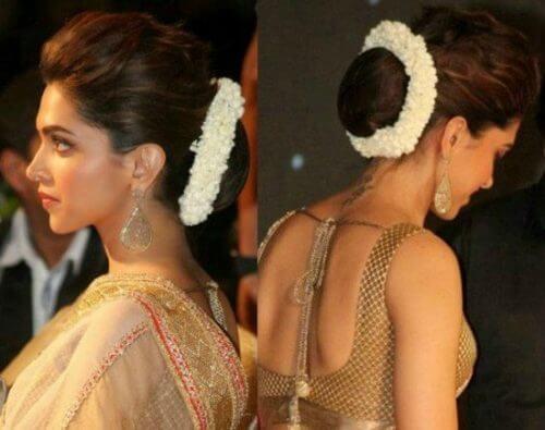 Deepika Padukone Hairstyles - Kajra Look