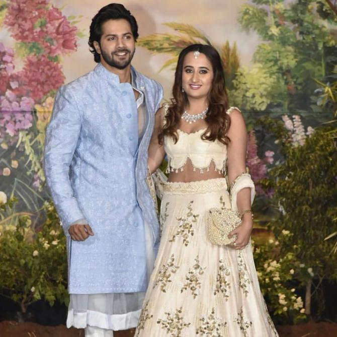 Varun Dhawan and Natasha Wedding