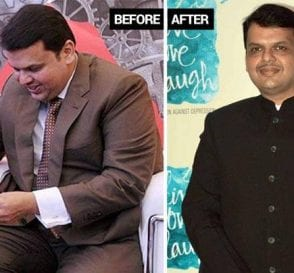 SHOCKING : Maharashtra CM giving serious weight loss goals