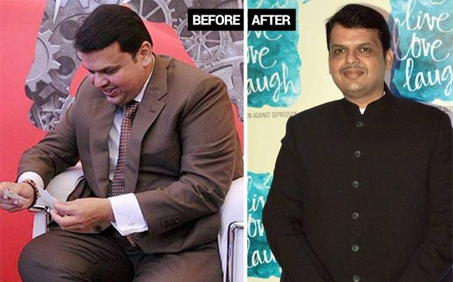 SHOCKING : Maharashtra CM giving serious weight loss goals