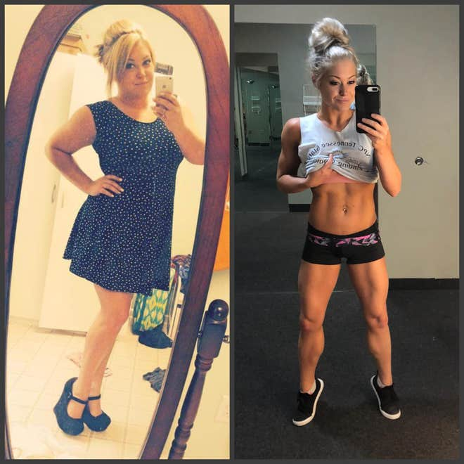 BREAKING : A women lost over 70 lbs to become a fitness competitor