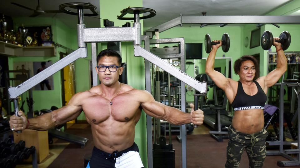Bodybuilding Couple India
