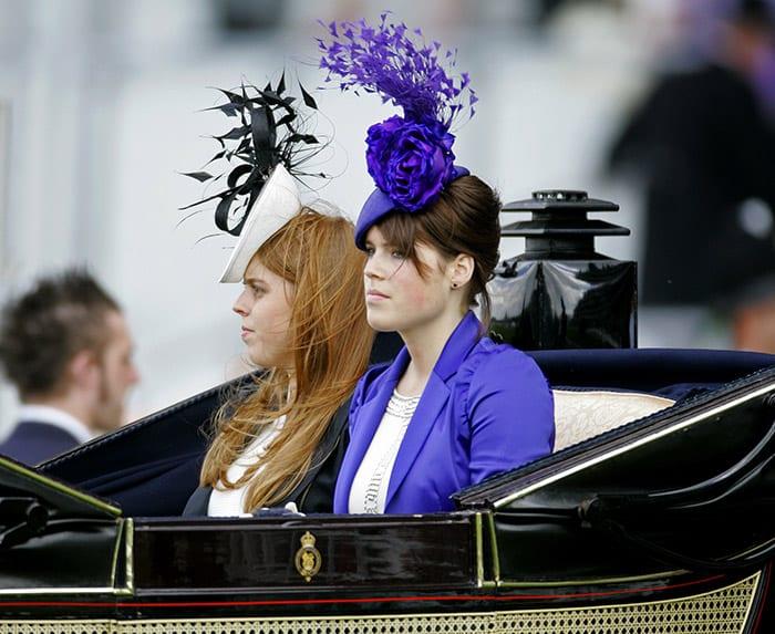 Princess Eugenie, with bun hairstyle