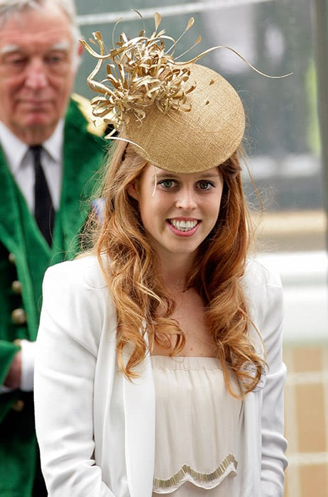 Princess Beatrice with open hairstyle