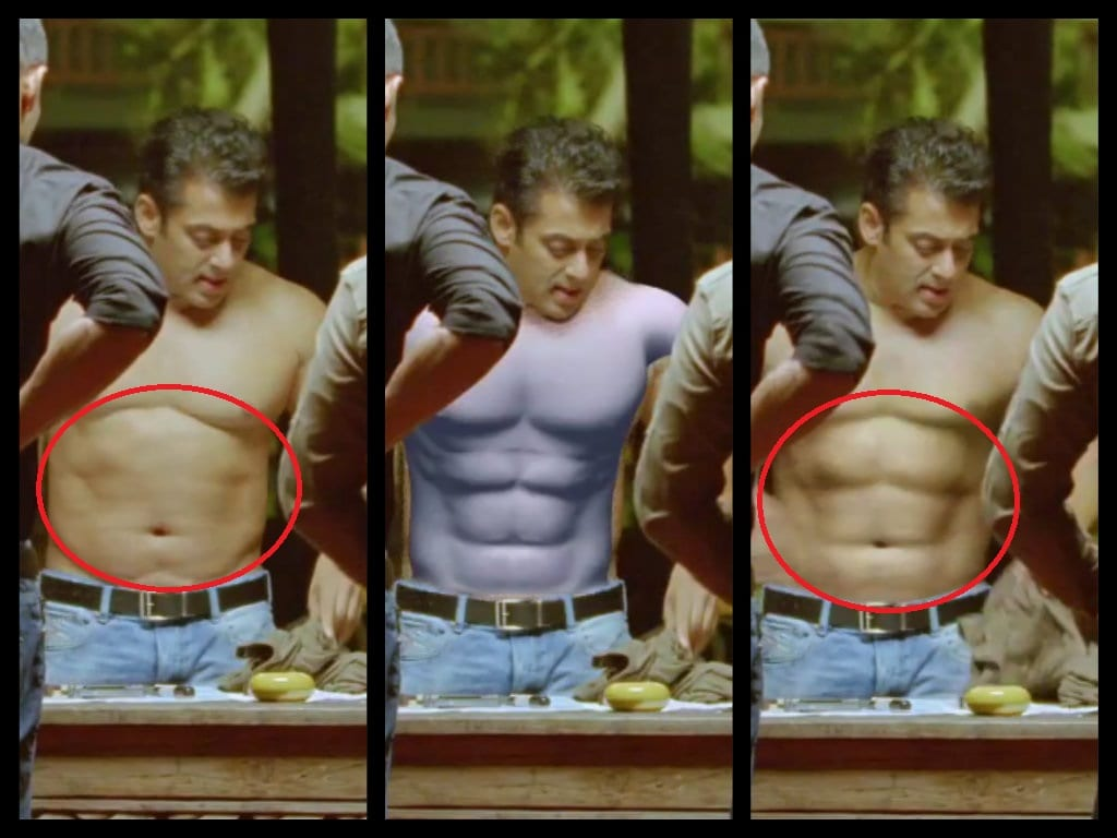 BREAKING : Salman Khan's FAKE Six Pack Abs