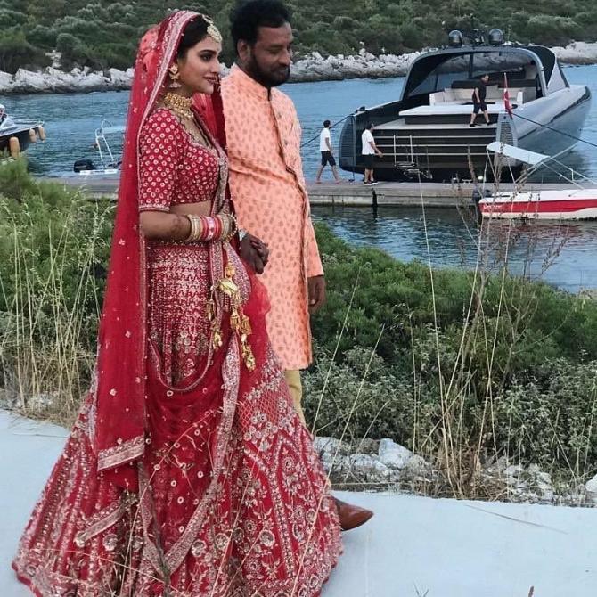 Nusrat Jahan with her husband Nikhil