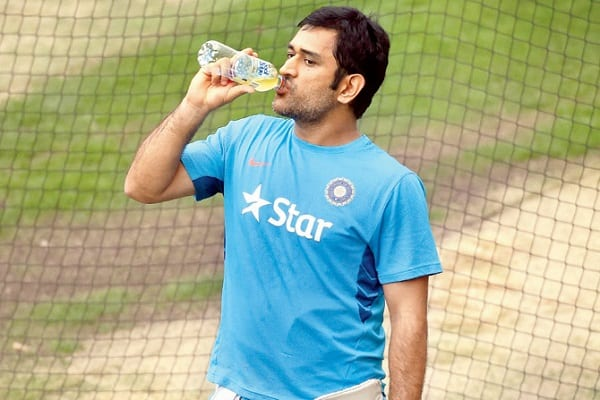 MS Dhoni during Match