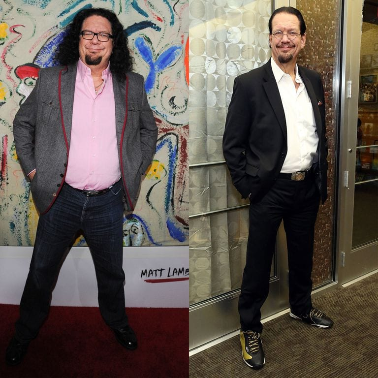 Penn Jillette Weight Loss Before and After