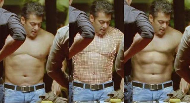 Salman Khan Fake Six Pack Abs