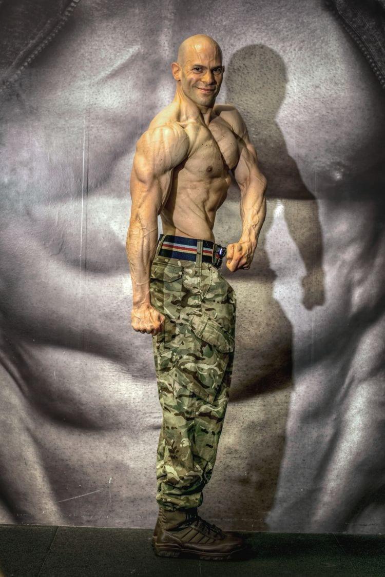 Peter Batai showing his upper body