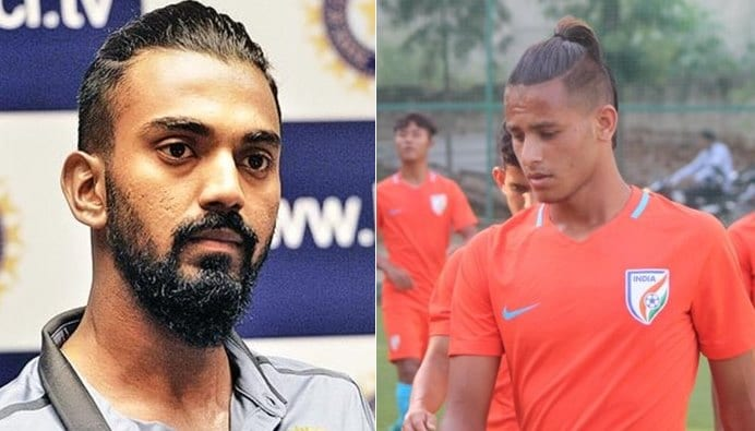 K L Rahul and Anwar Ali Hairstyle