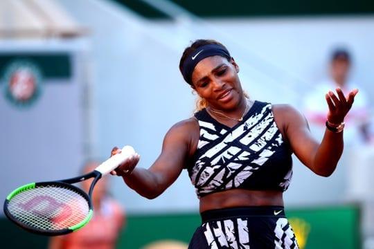 Serena Williams in a Tennis Lawn