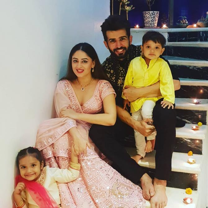 Mahhi Vij with her husband Jay Bhanushali