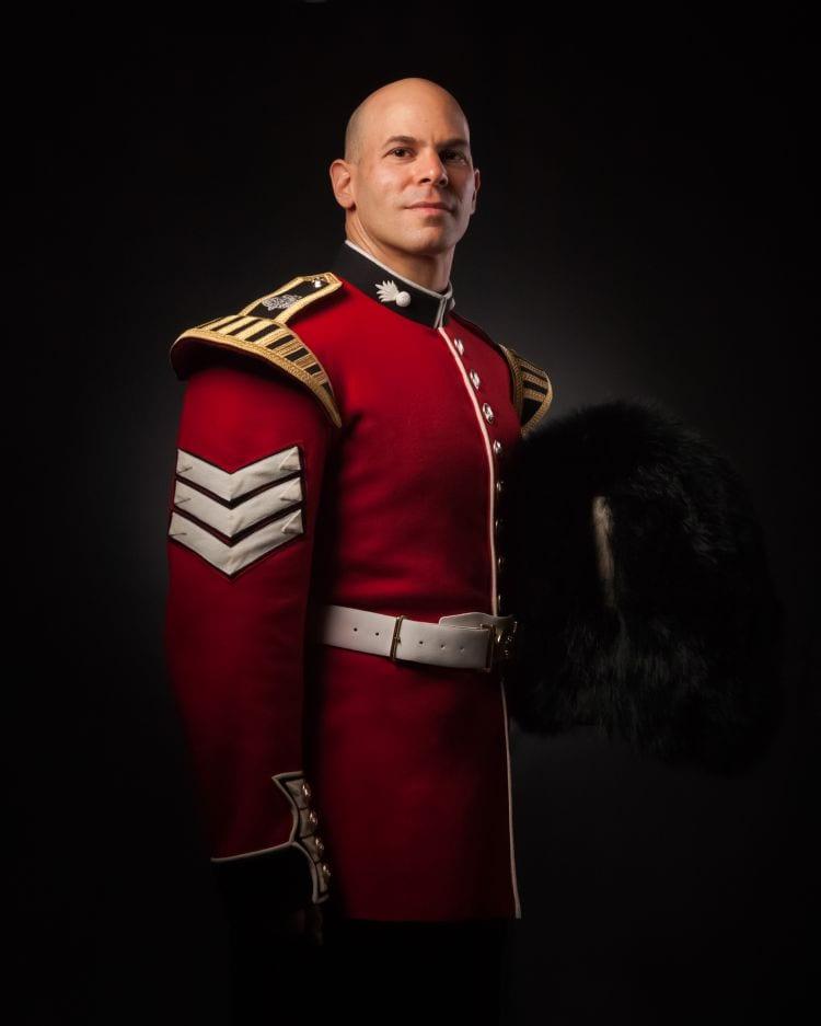 Peter Batai in Guard Dress