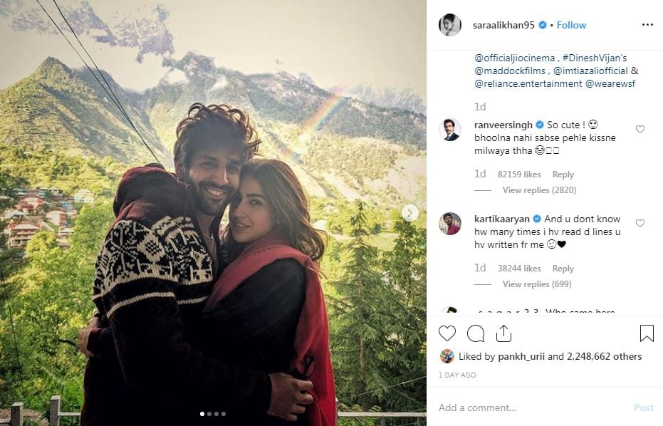 Are Kartik and Sara dating?