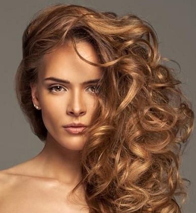 Side Swept Curly hairstyle 34