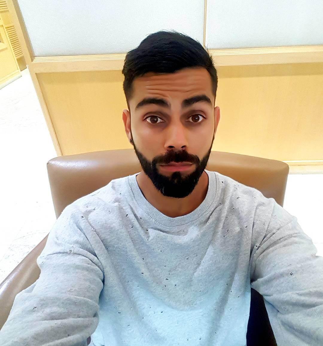Medium Stubble Beard Style – Virat Kohli