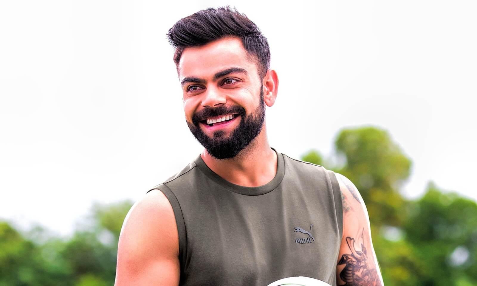 Long Stubble Beard Style – VIrat Kohli