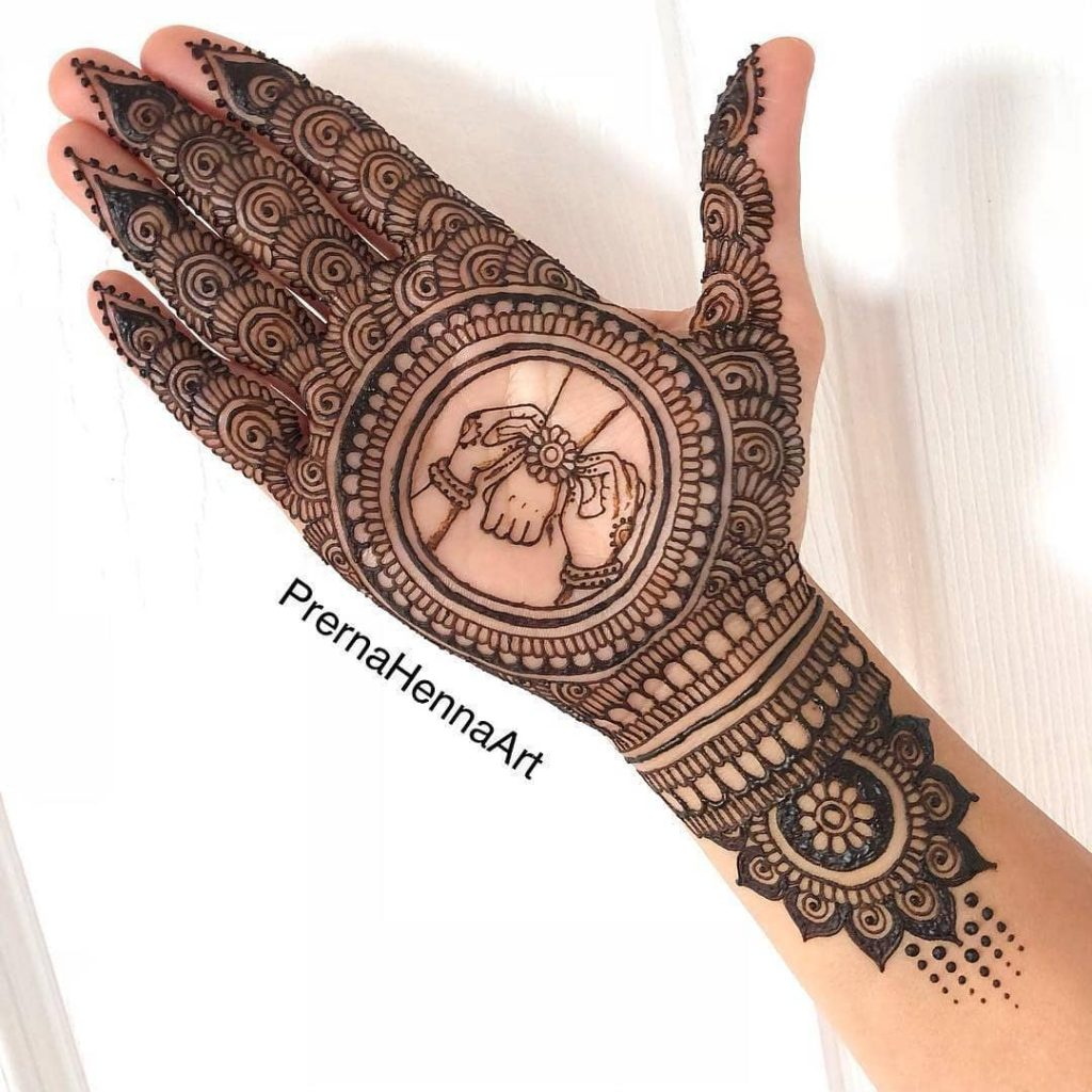 This is a perfect mehendi design for the Rakhi season 46