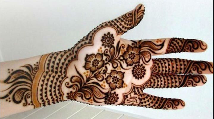 Shaded Mehendi Design 15