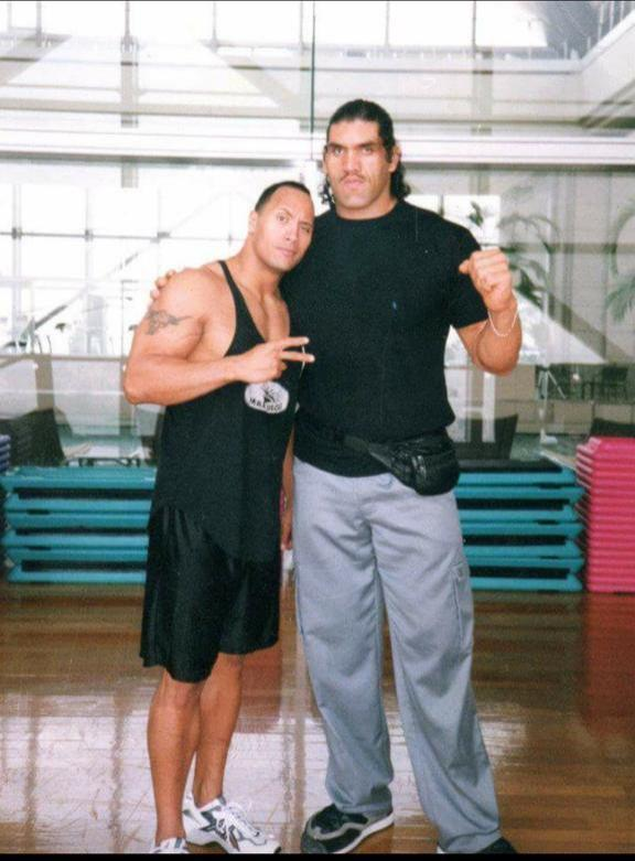 great khali early photos with The Rock
