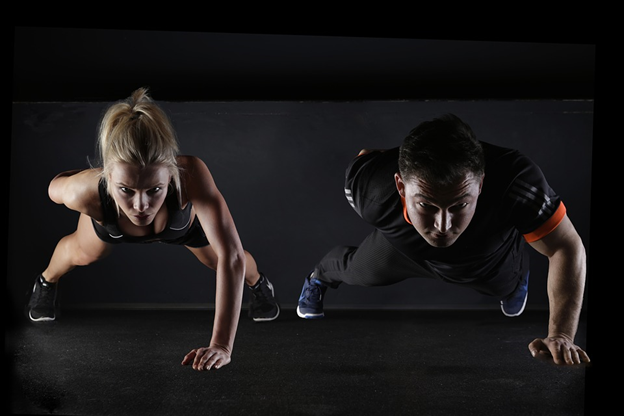 Strength Training Workouts and Equipment - Image of Girl and a Boy doing Cardio