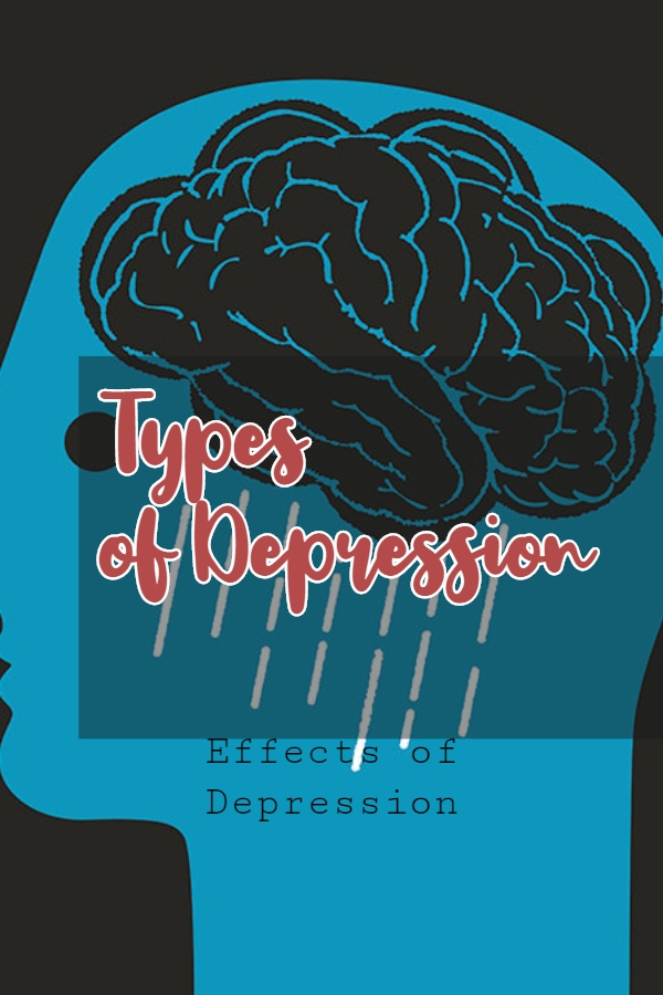 Effects of Depression - This is a vector image of human brain