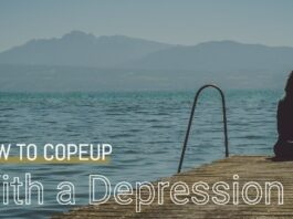 CopeUp with Depression - Girl sitting lonely in unknown place
