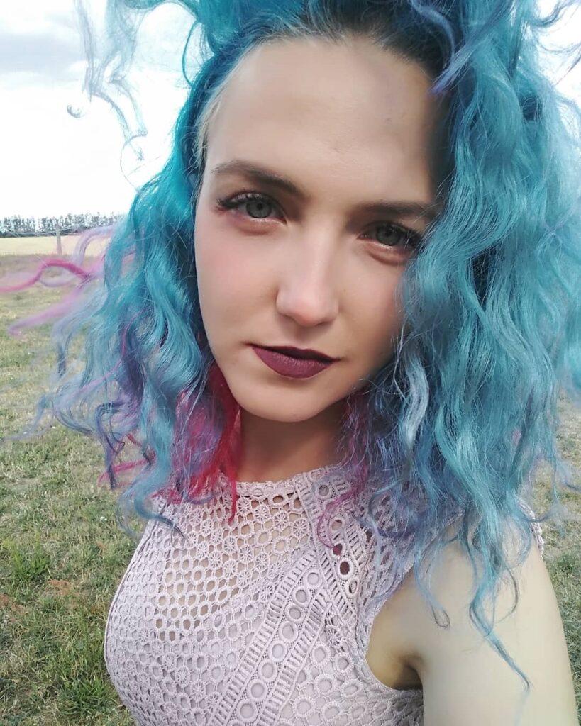 Azure Hair Front Pose - Gorgeous Blue Hair Color Ideas
