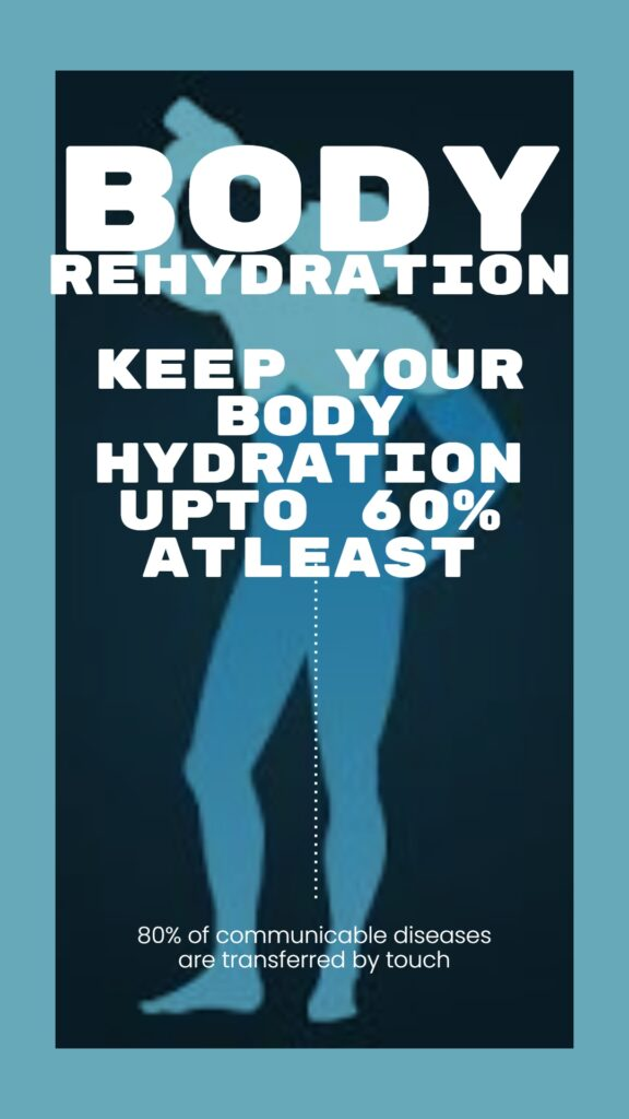 Body Rehydration fact written on the vector image