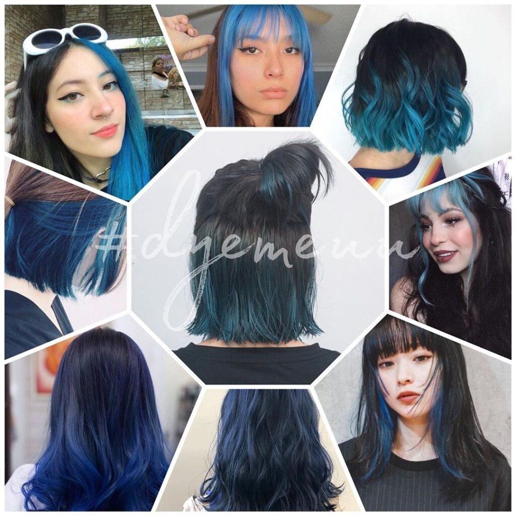 Oxford Blue Hair - Gorgeous Blue Hair Color Ideas