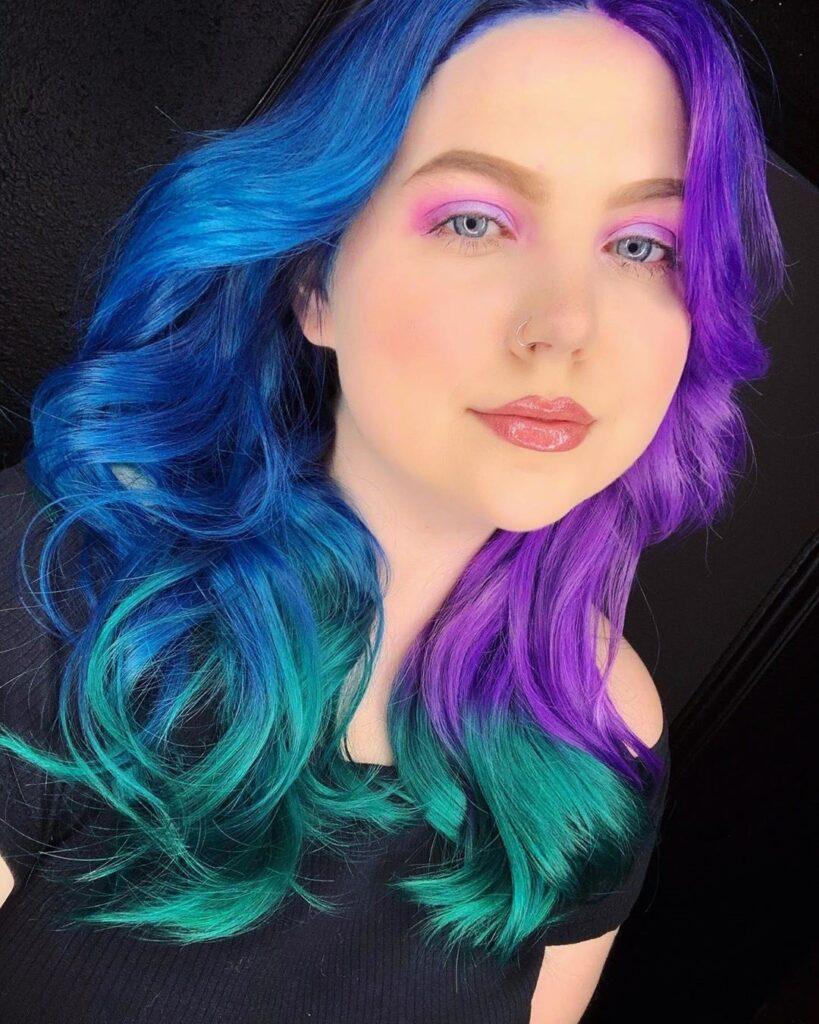 Sapphire Blue Hair Front Pose - Gorgeous Blue Hair Color Ideas