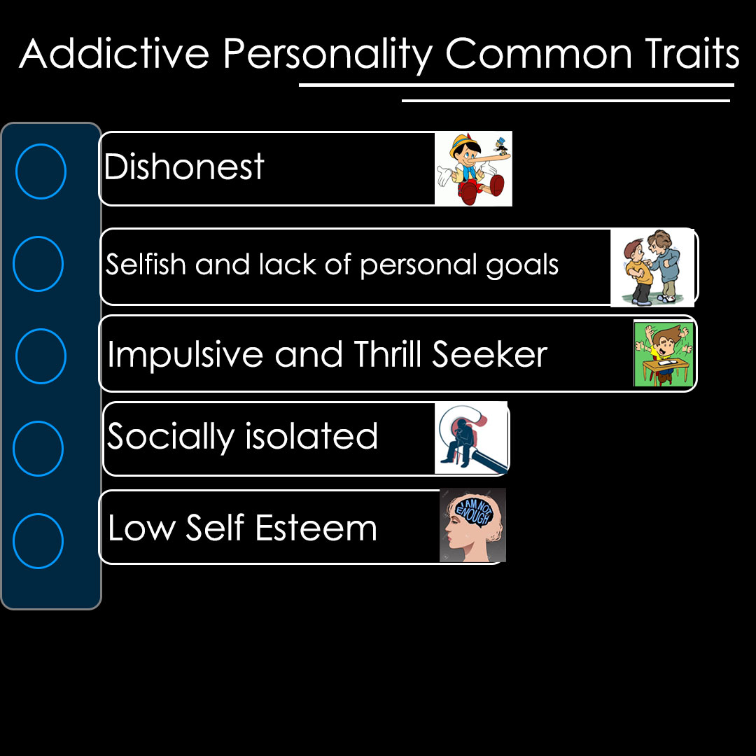 addictive personality traits - list of common traits
