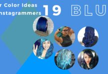 blue hair color ideas - collage
