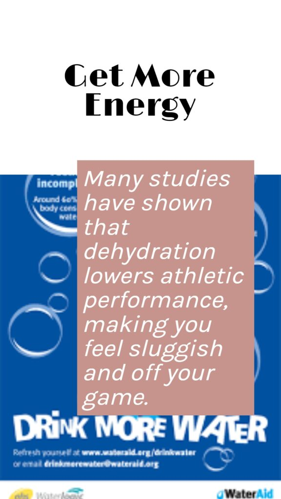 Hydration related fact written over the vector body image