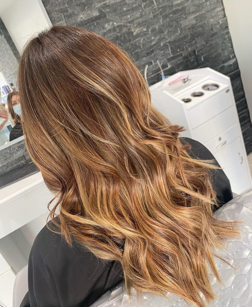 Beeline Honey Hair color with back pose
