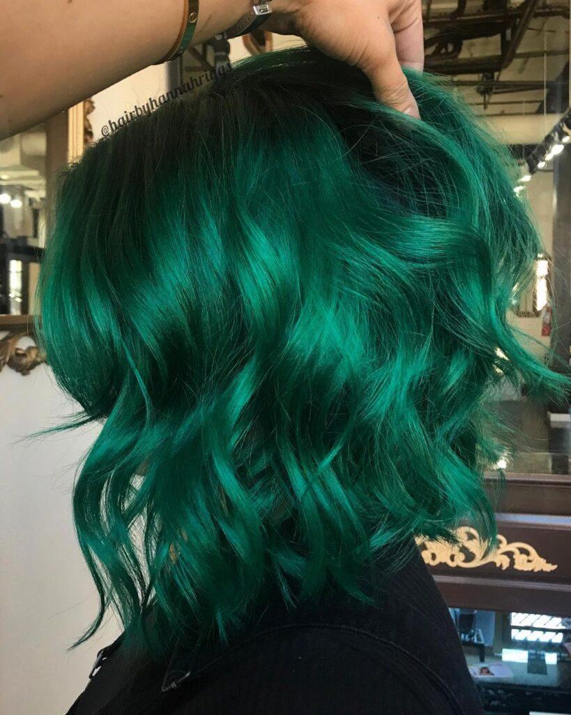 15 Stunning Green Hair Color Ideas 2020 7