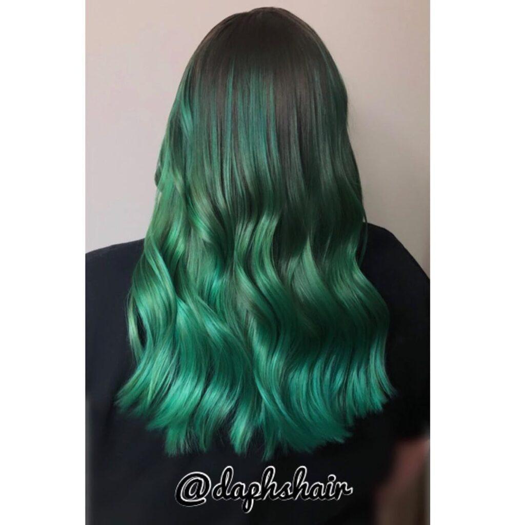 15 Stunning Green Hair Color Ideas 2020 9