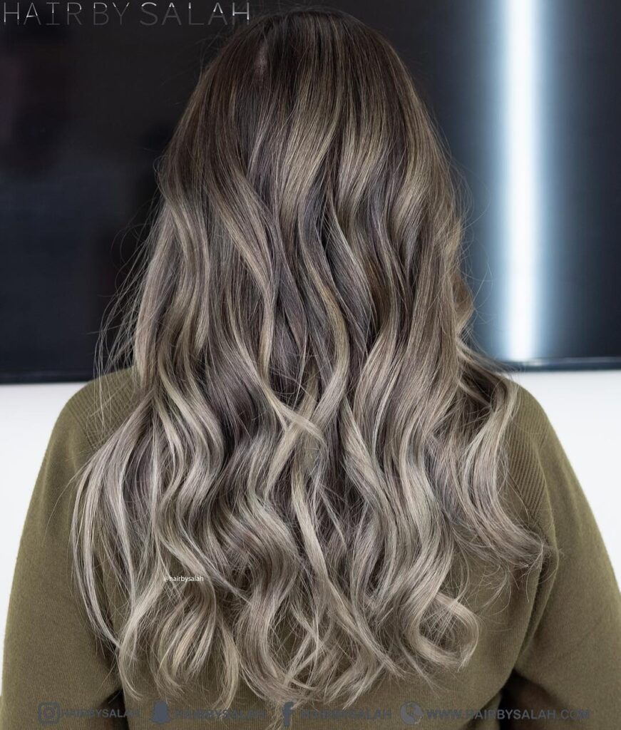 Light Ash Blonde Hair color with back pose