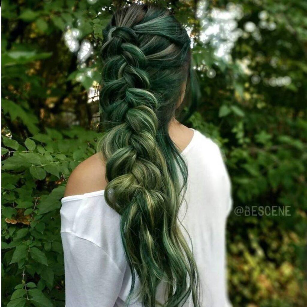 15 Stunning Green Hair Color Ideas 2020 5