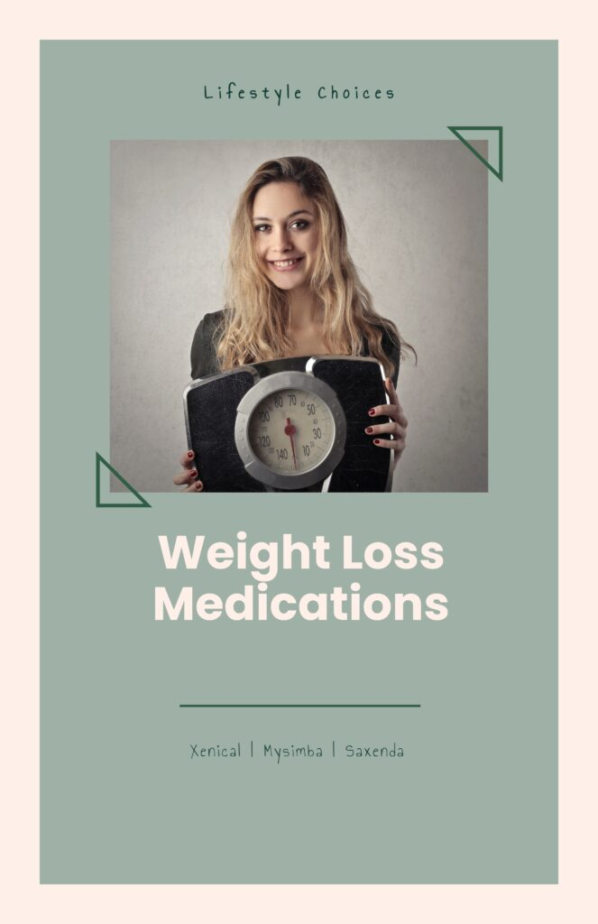 Weight Loss Medications - Lifestyle Choices. Slim girl is carrying weight machine