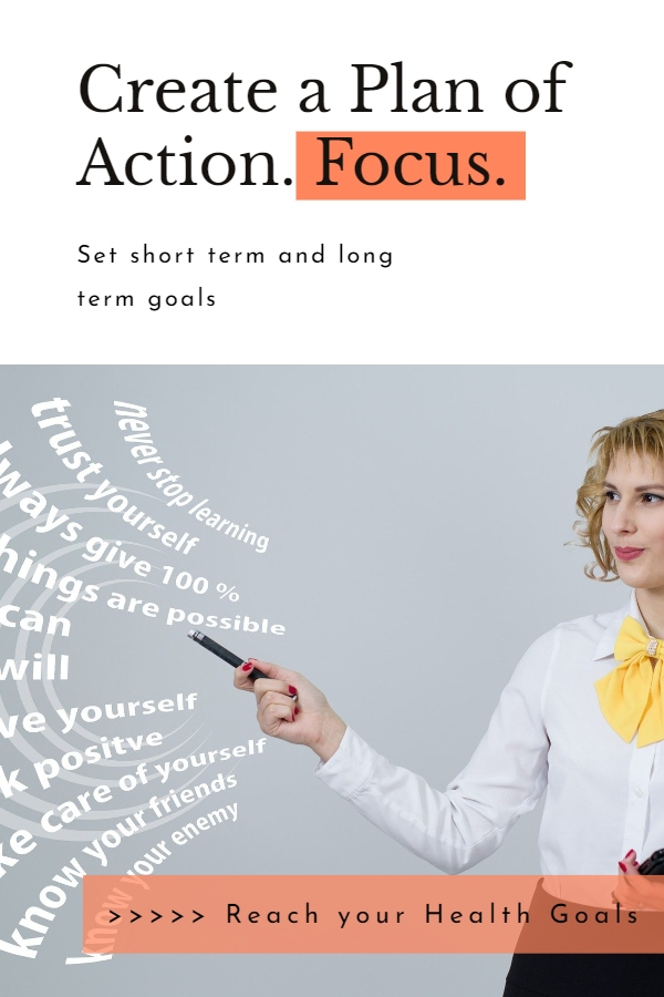 Create a plan of Action - girl is pointing pen on the possibilities