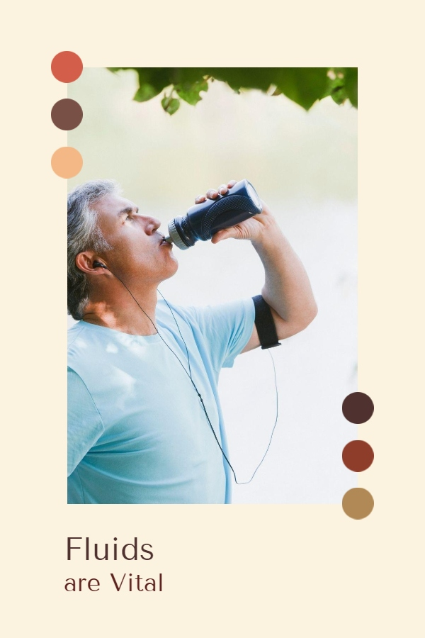 Manage your fluids intake - an old man drinking fluid