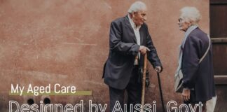 my aged care - australian government - Two senior citizens greeting each other