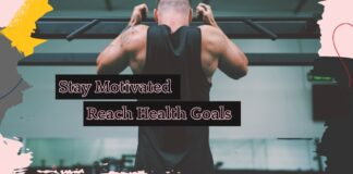Stay Motivated Reach Health Goals - Man is pulling himself for fitness goals