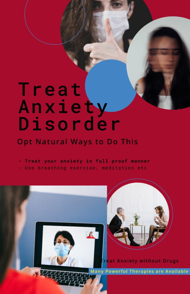 Treat Anxiety Disorder Naturally Infographic