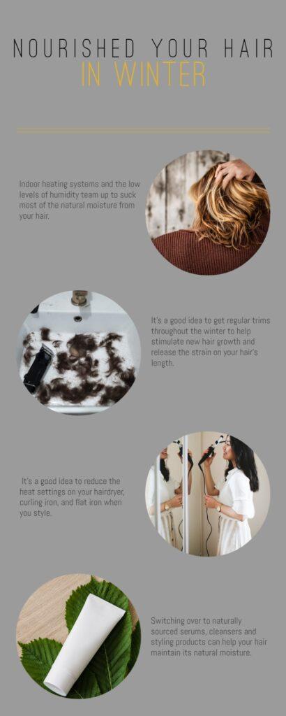 Nourish Hair in Winter Infographic