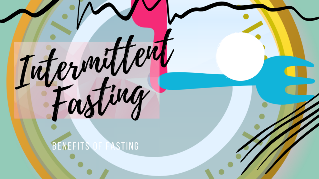 Intermittent fasting - illustrator graphic