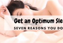 optimum sleep - woman is sleeping on her bed