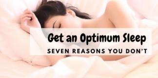 optimum sleep - woman is sleeping on her bed
